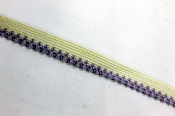 Gummiband | Wäschgummi | 10mm | lila Spitze