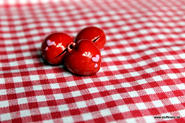 Glöckchen | Herz | rot