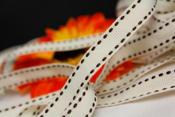 Ripsband | creme/braun