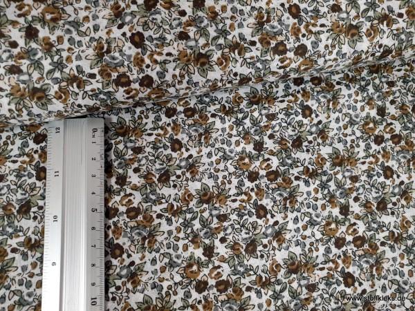 Baumwolle | bedruckt | Blümchen | braun
