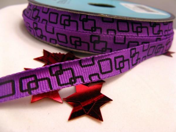 Ripsband | quadratisch | lila