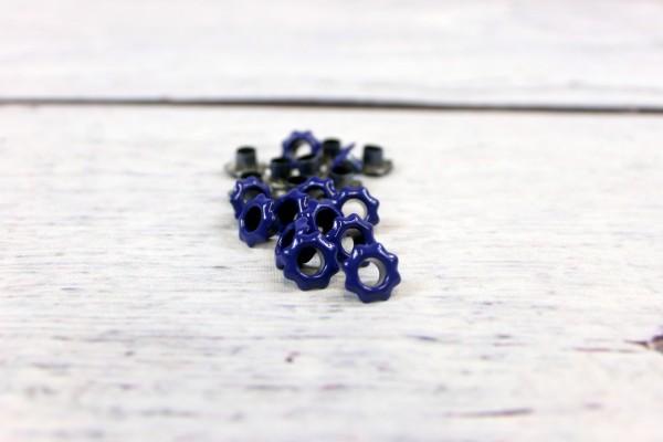 Ösen   5mm   Blume   blau