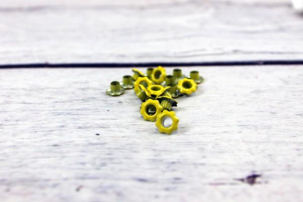Ösen | 5mm | Blume | gelb