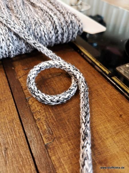 Baumwollkordel | 8mm | schwarz/weiss