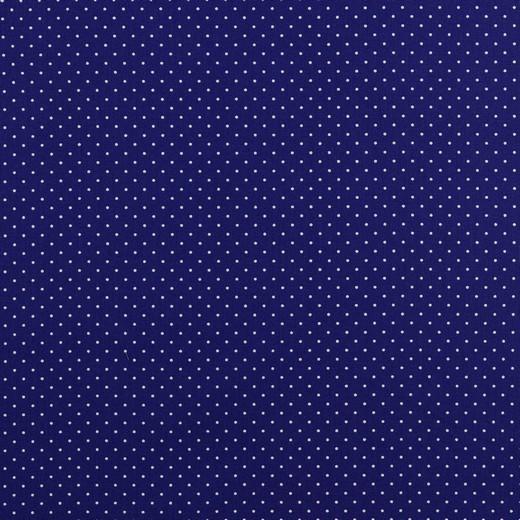 Baumwolle | bedruckt | 1mm Punkte | kobalt/weiss