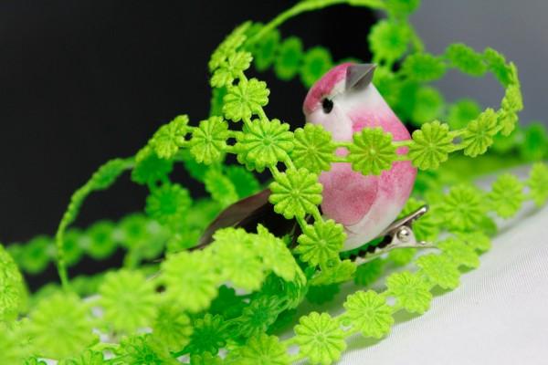 Blumenborte aufbügelbar   grün