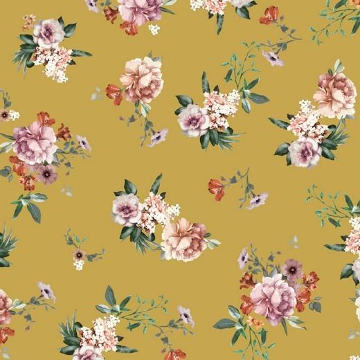 Sweat   bedruckt   DIGITAL   Flowers   senf