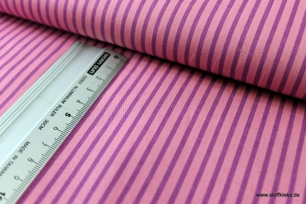 Baumwolle | bedruckt | long stripes | altrosa/violett