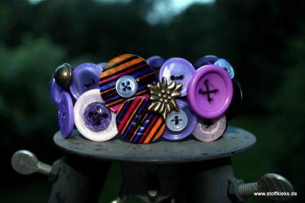 Knopfarmband - Set zum Selbermachen | lila