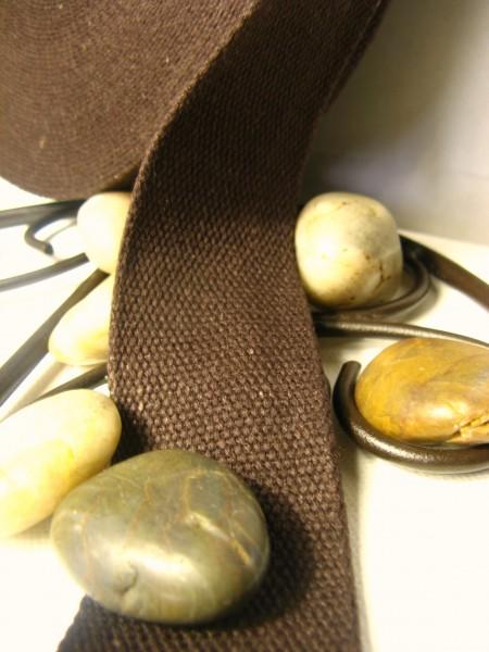 Gurtband | Baumwolle | 4cm | braun