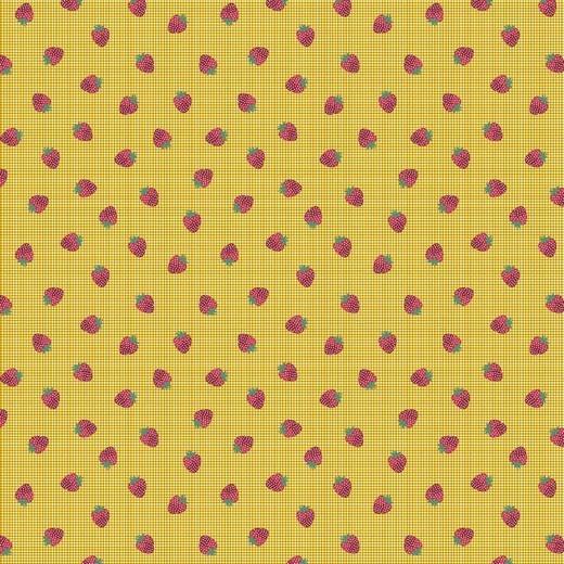 Baumwolle | bedruckt | STRAWBERRY FIELDS | gelb