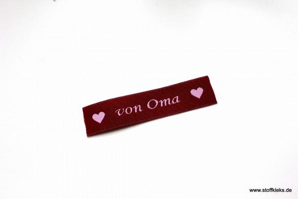 Applikation | Label | von Oma | Beere mit rosa | 1,5 cm