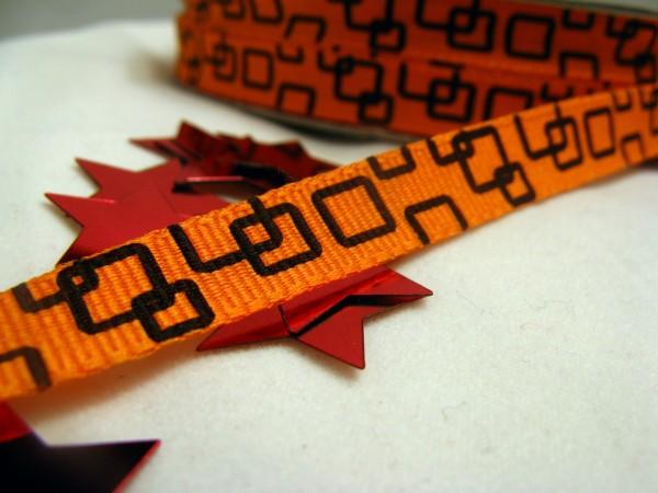 Ripsband   quadratisch   orange