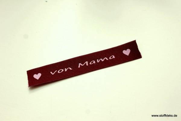 Applikation | Label | von Mama | Beere mit rosa | 1,5 cm