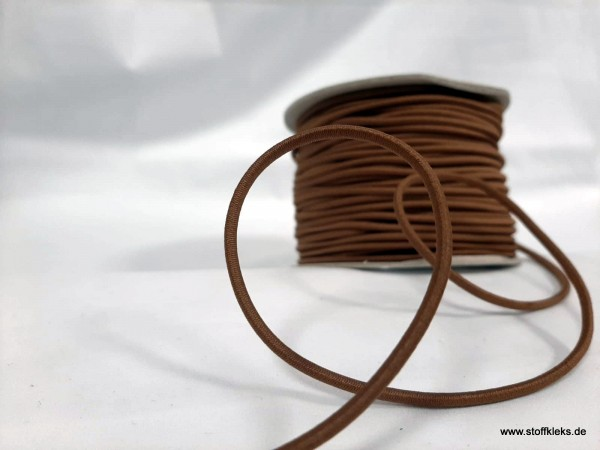 Gummikordel 3mm | espresso | 10m