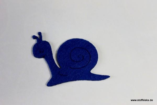 Filzapplikation | Schnecke | blau
