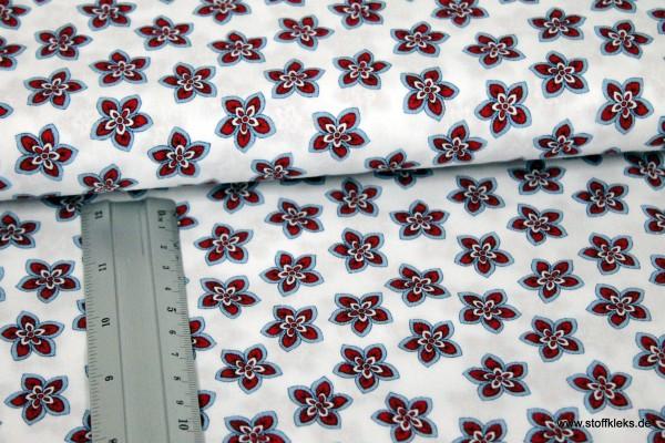Baumwolle | bedruckt | let's get floral | weiß