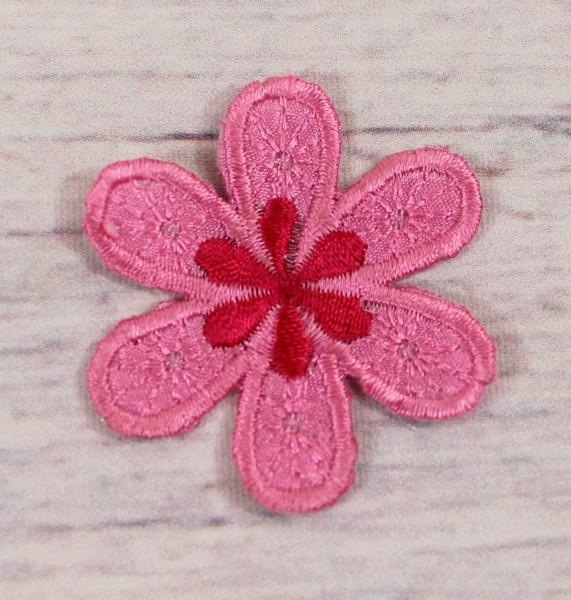 Applikation | Blume | pink | 4,5cm