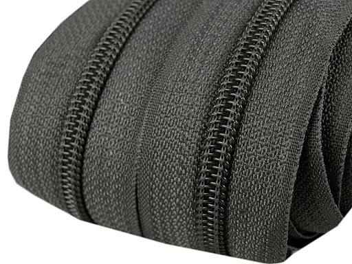Reißverschluss | endlos | Spirale 5mm | dunkelgrau
