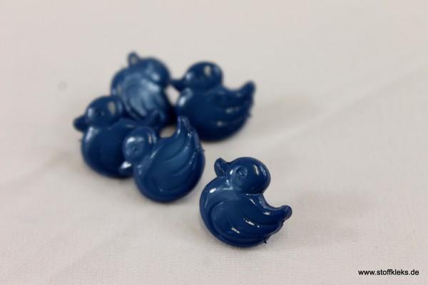 5 Knöpfe   Öse   Entchen   blau   1,2 x 1,1cm
