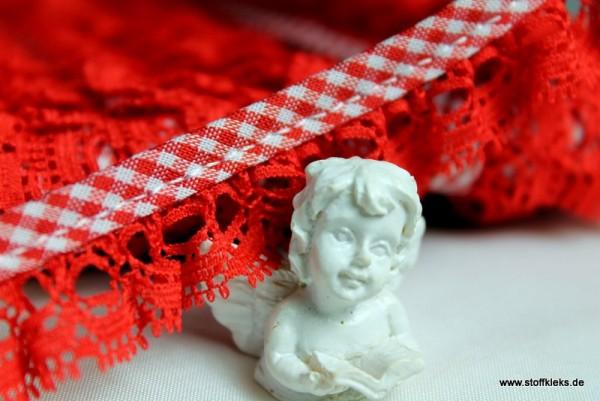 Rüschenband | Vichy | 20 mm | rot