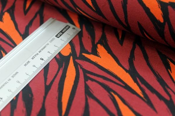 Jersey | bedruckt | Flammen | rotbraun / orange