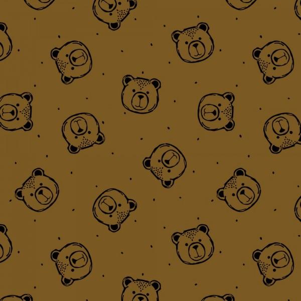 Soft Sweat | bedruckt | Teddy | haselnuss braun