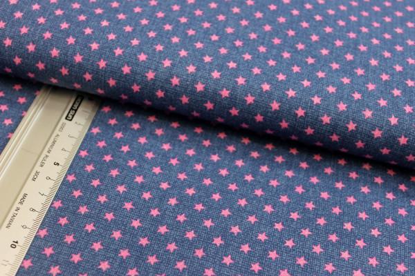 Baumwolle | bedruckt | verzauberte Rosen | rosa/rot/grün