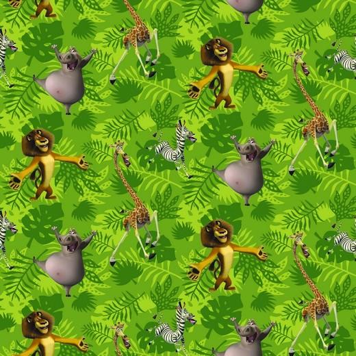 Jersey   bedruckt   DIGITAL   MADAGASCAR   grün