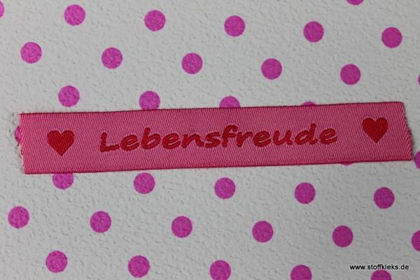 Applikation | Label | Lebensfreude | rosa