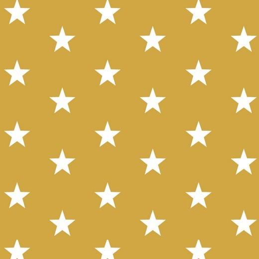 Baumwolle | bedruckt | 3cm Sterne | senf