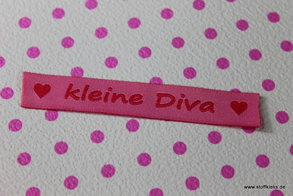 Applikation | Label | kleine Diva | rosa