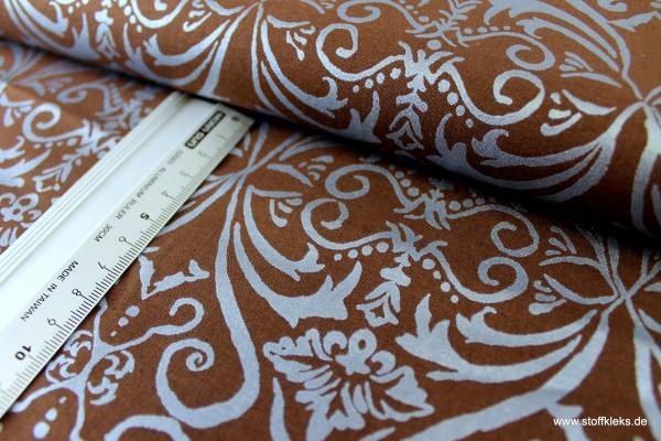 Baumwolle | bedruckt | Robert Kaufman | design #14249 Shimmer | braun