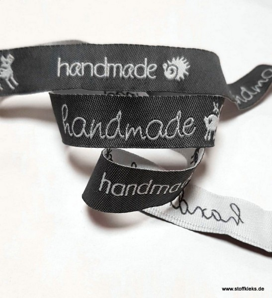Webband | handmade | grau/weiss