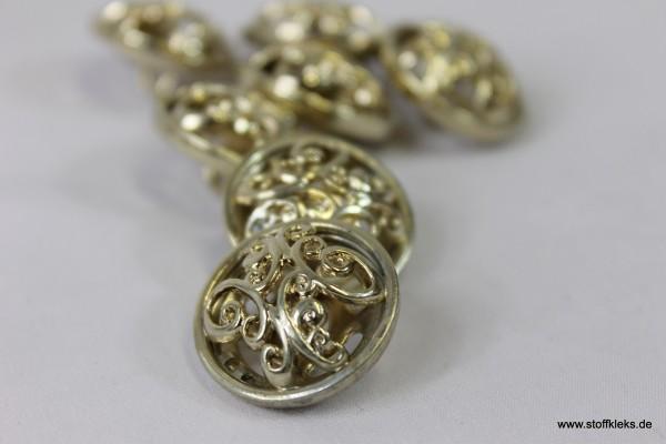 1 goldener Metallknopf mit Öse   ca 2,3cm