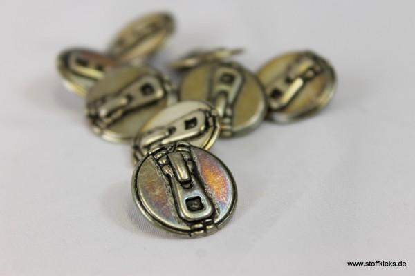 5 Reißverschluss Metallknöpfe | Öse | ca. 1,8 cm