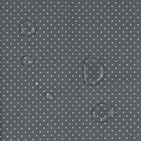 Wachstuch/beschichtete Baumwolle | 1mm Punkte | grau/weiss