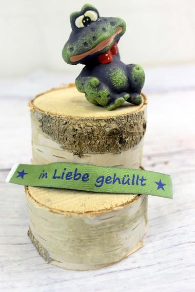 Applikation   Label   in Liebe gehüllt   grün