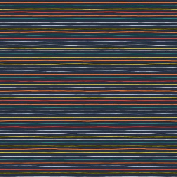 Baumwolle | bedruckt | bunte Streifen | navy