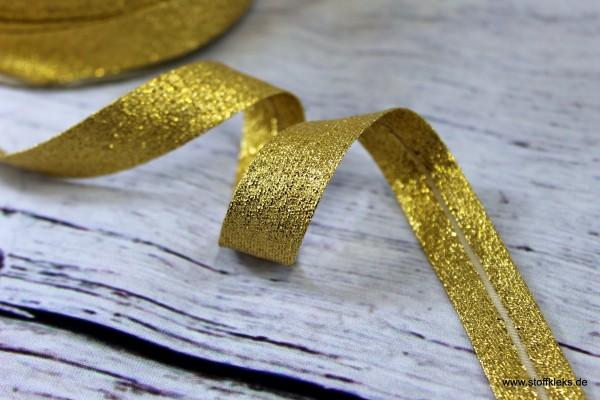 Schrägband/Einfassband   GOLD   1,8 cm