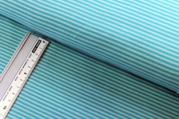 Jersey | bedruckt | Streifen | mint / helles mint