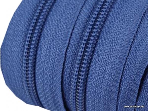 Reißverschluss | endlos | Spirale 5mm | steinblau