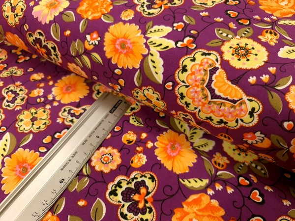 Sommersweat | French Terry | oillie print | purple