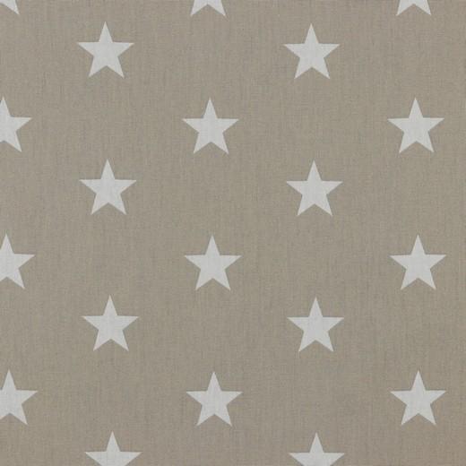 Baumwolle | bedruckt | 3cm Sterne | sand / weiss