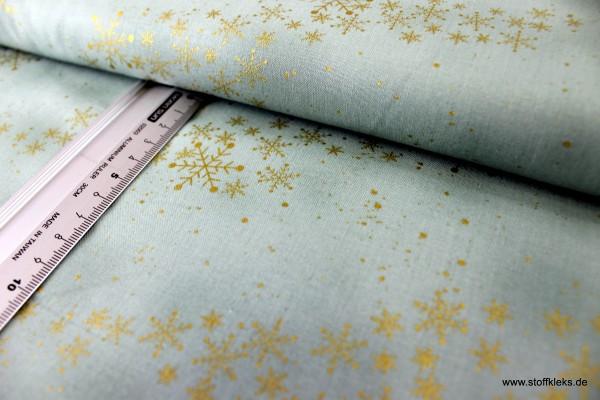 Baumwolle | bedruckt | stoffabrics | #MCS 18-02 | Amazing Stars | helles agavengrün