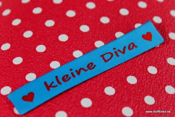 Applikation | Label | kleine Diva | blau