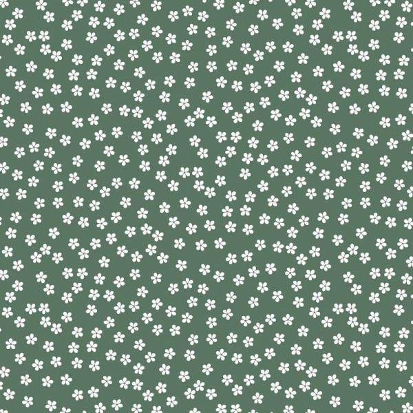 Baumwolle | bedruckt | Blumen | old green