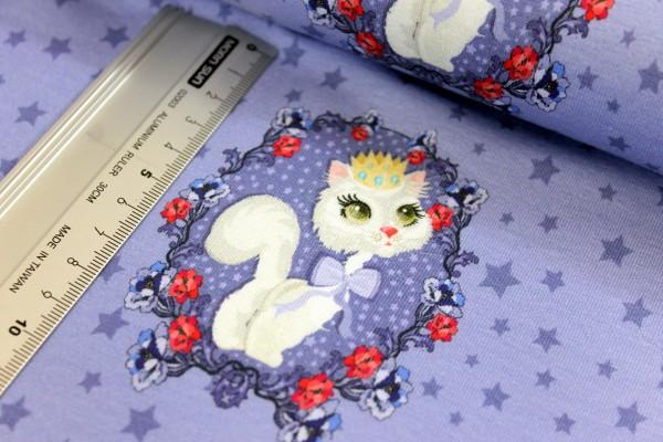 Jersey | bedruckt | Queen of cats | blau