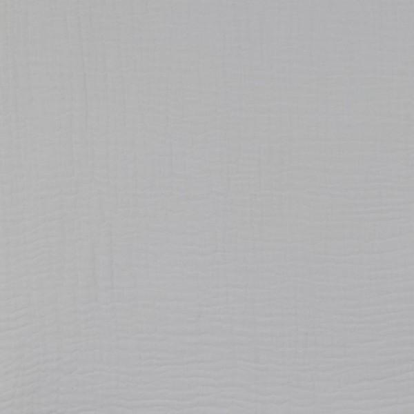 Baumwolle | double gauze/Musselin | Uni | grau