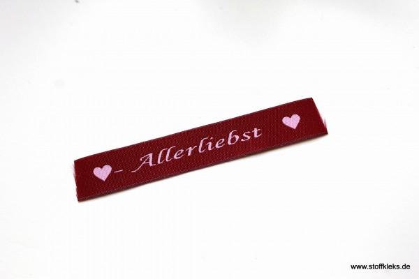 Applikation | Label | Allerliebst | Beere mit rosa | 1,5 cm